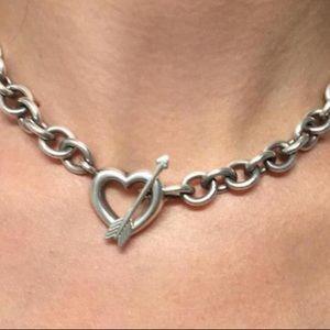 Tiffany heart and arrow toggle choker